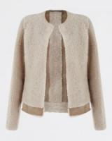 JIGSAW Sheepskin Jacket oatmeal. Warm autumn / winter jackets – womens outerwear – luxe style clothing