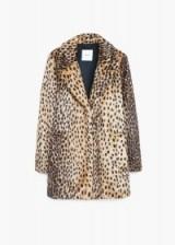 MANGO leopard faux fur coat medium brown. Animal prints – warm coats – winter outerwear