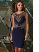 Lipsy Michelle Keegan Placement Detail Bodycon Dress navy. Party dresses – going out – evening fashion