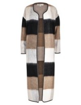 M&S LIMITED EDITION New Longline Checked Blanket Coat with Wool grey mix. Womens winter coats – long length outerwear – Marks & Spencer clothing