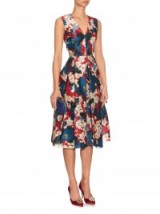ERDEM Loren Ohana-print silk dress ~ floral silk dresses ~ designer clothes ~ occasion wear
