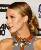Blake Lively's hair in a slicked back bun. #blakelively celebrity updos – chic hairstyles – star style