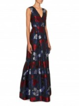 ERDEM Lucetta Hibiya Orchid-print gown ~ designer gowns ~ long luxury dresses ~ occasion wear ~ floral prints