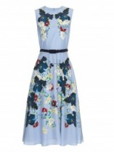 ERDEM Mackenzie Kita Sky-print silk dress ~ floral printed dresses ~ luxury fit and flare ~ designer fashion