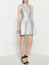 MARKUS LUPFER Metallic Foil Savannah Dress Silver – designer dresses – metallics – fashion
