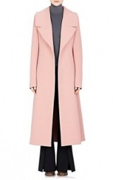 Miranda Kerr style out in Paris, 6 October 2015…MARNI Wide-Lapel Coat in pink. Celebrity fashion | designer coats | luxury outerwear | star style | what celebrities wear