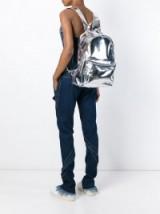 MARQUES ALMEIDA metallic backpack – metallic backpacks – silver metallics
