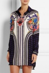 Mary Katrantzou Croft printed silk-chiffon mini dress. Luxury shirt dresses ~ designer fashion ~ bold colourful prints