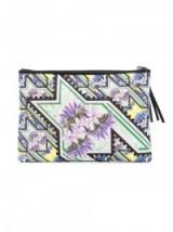 MARY KATRANTZOU Karo clutch. Designer handbags ~ printed evening bags