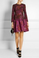 Mary Katrantzou Scarlett printed silk-satin twill and lace mini dress. Luxury dresses ~ designer fashion ~ rich printed fabrics