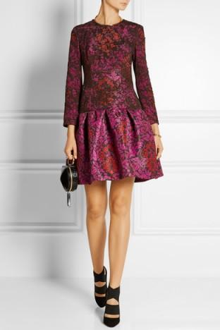 Mary Katrantzou Scarlett printed silk-satin twill and lace mini dress. Luxury dresses ~ designer fashion ~ rich printed fabrics
