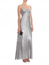 GALVAN Metallic lamé gown – designer occasion gowns – silver metallics