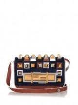 FENDI Mini 3Baguette stud-embellished cross-body bag. Designer handbags – luxury crossbody bags
