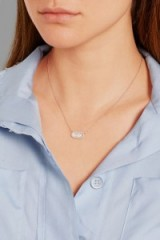 MONICA VINADER Vega rose gold-plated, diamond and rock crystal necklace. Crystals | delicate necklaces | diamonds | jewellery