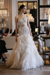Monique Lhuillier Bridal Spring 2016 – designer wedding dresses – strapless bridal gowns – luxury wedding dress