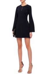 CUSHNIE ET OCHS Navy Viscose Long Sleeved Mini Dress