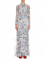 ERDEM Nellie Ibaraki-print silk gown ~ designer gowns ~ luxury clothes ~ occasion wear ~ long floral dresses