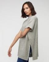 JIGSAW Knit Tabard grey. Autumn / winter knitwear – womens oversized jumpers – high neck tabards – knitted fashion