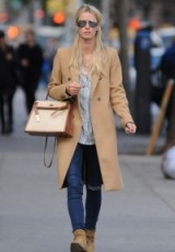 Nicky Hilton Rothschild street style out in New York City, October 2015. Casual celebrity fashion | outfits