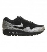 NIKE Air max 1 nyc metallic leather trainers – womens sports shoes – silver metallics