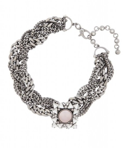 HENRI BENDEL – NOLITA BROOCH COLLAR. statement jewellery – Swarovski crystal collars – chunky necklaces - flipped