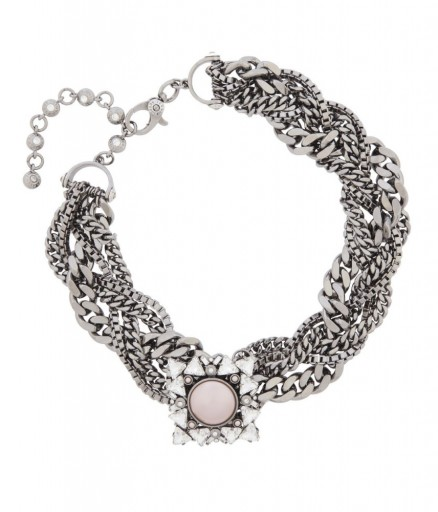 HENRI BENDEL – NOLITA BROOCH COLLAR. statement jewellery – Swarovski crystal collars – chunky necklaces