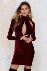 Oh My Love great pretender velevet cutout dress burgundy. Party dresses – evening glamour – going out fashion