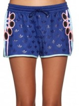 Kylie Jenner style…Adidas X Mary Katrantzou ori logo-print shorts – as worn by Kylie Jenner at her home in Calabasas, October 2015. Celebrity Fashion   star style   what celebrities wear   sports luxe outfits