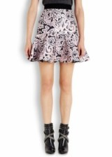 MARY KATRANTZOU Paige printed satin twill mini skirt. Lace style skirts ~ designer fashion