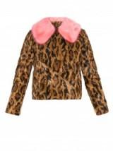 SHRIMPS Papa Puss jaguar-print faux-fur coat. Animal prints – designer jackets – warm winter outerwear