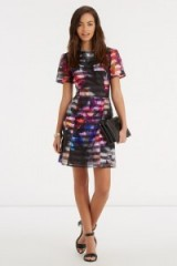 OASIS – photographic organza print dress. floral print dresses / printed party fashion / flower prints