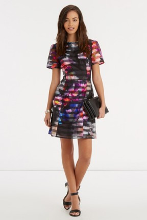 1a1727862c77 OASIS – photographic organza print dress. floral print dresses / printed  party fashion / flower