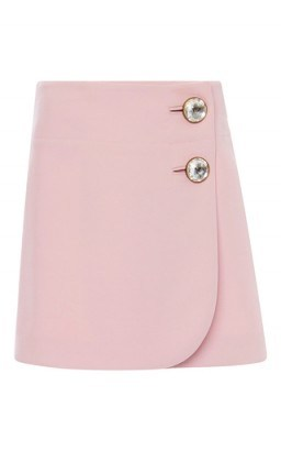 MARNI Pink Double Worsted Wool Mini Skirt - flipped