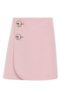 MARNI Pink Double Worsted Wool Mini Skirt