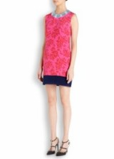MARY KATRANTZOU Plastica floral-print silk mini dress bright pink. Designer dresses ~ textured fabrics ~ luxury clothing