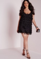 Missguided plus size fluffy dress black – party dresses – short plus size going out fashion – parties – evening glamour