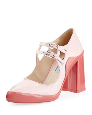 prada leather bag men - pink prada pumps