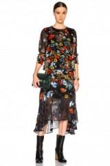 Olivia Palermo style…PREEN BY THORNTON BREGAZZI LAMBERT DRESS poppy flower print – as worn by Olivia Palermo in Dublin, 9 October 2015. Celebrity fashion   star style   designer floral dresses   what celebrities wear