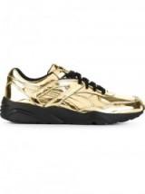 PUMA metallic trainers – metallic sports shoes – gold metallics