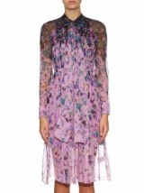 ERDEM Rosy Moreau degrade silk-chiffon midi dress ~ floral print dresses ~ designer clothes