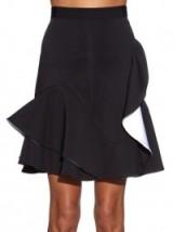 GIVENCHY Ruffle-hem neoprene skirt ~ black designer skirts ~ ruffles ~ ruffled ~ short style ~ stylish