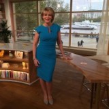 Looking stylish as always, Ruth Langsford in a blue Diva Catwalk dess #itvthismorning
