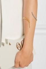 RYAN STORER Gold and rhodium-plated Swarovski crystal cuff. Modern style jewellery cuffs | crystals | bracelets