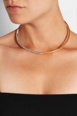 RYAN STORER Gold-plated Swarovski crystal choker. Modern style chokers | crystals | jewellery