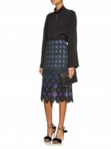 ERDEM Safia jacquard pencil skirt ~ luxury skirts ~ designer fashion