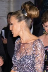 So chic!…Sarah Jessica Parker's updo at the 2015 NYC Ballet Fall Gala. Celebrity hairstyles | updos | hair and beauty