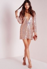 Missguided sequin shift dress gold. Evening glamour – party fashion – going out dresses – sequins