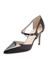 SJP by Sarah Jessica Parker Phoebe Patent Mary Jane Pump, Black. Mary Janes ~ pointed toe shoes ~ high heels ~ designer pumps