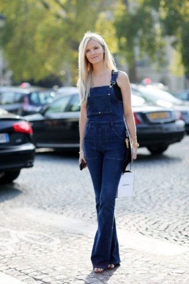 Denim dungarees | casual street style | outfit inspiration - flipped
