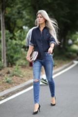 A perfect double denim look